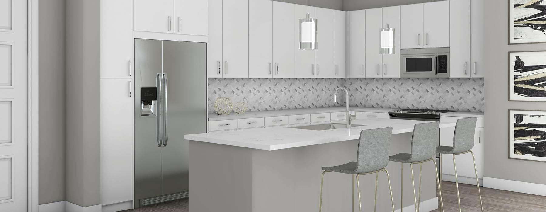 rendering of White Kitchen Scheme